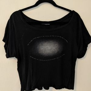 American eagle Black Crop Top